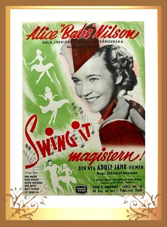 Swing It Magistern 1940 Alice Babs inramad filmaffisch