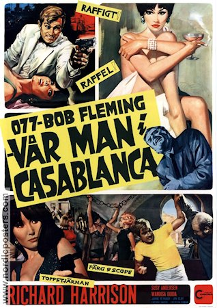 077 Bob Fleming Vår man i Casablanca 1966 poster Richard Harrison