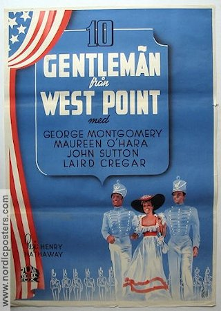 10 gentlemän från West Point 1943 poster George Montgomery