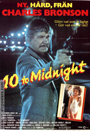 10 to Midnight 1983 poster Charles Bronson