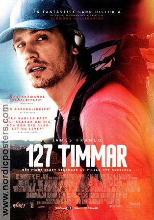 127 timmar 2010 poster James Franco Danny Boyle
