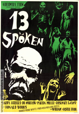 13 spöken 1960 poster Charles Herbert William Castle