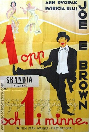 1 opp och 1 i minne 1936 poster Joe E Brown Busby Berkeley