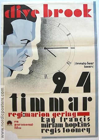 24 timmar 1932 poster Clive Brook