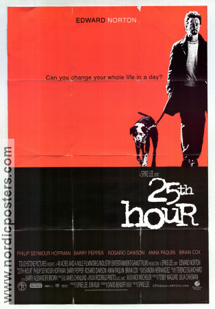25th Hour 2002 poster Edward Norton