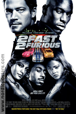 2 Fast 2 Furious 2003 poster Paul Walker John Singleton