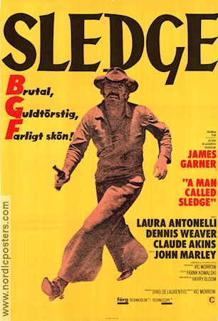 A Man Called Sledge 1970 poster James Garner Vic Morrow