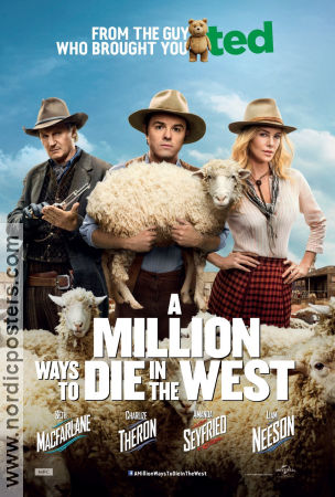 A Million Ways to Die in the West 2014 poster Charlize Theron Seth MacFarlane
