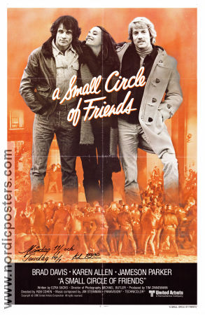 A Small Circle of Friends 1980 poster Brad Davis Rob Cohen