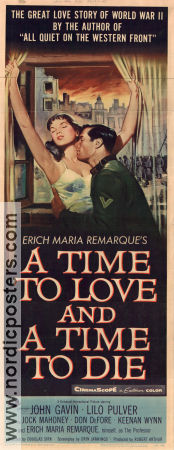 A Time to Love and a Time to Die 1958 poster John Gavin Douglas Sirk