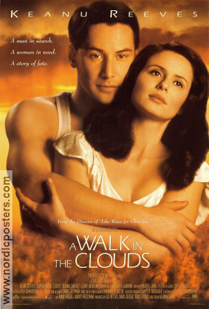 A Walk in the Clouds 1995 poster Keanu Reeves