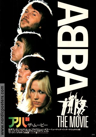ABBA the Movie 1977 poster Agnetha Fältskog Lasse Hallström