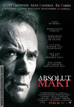 Absolut makt 1997 poster Clint Eastwood