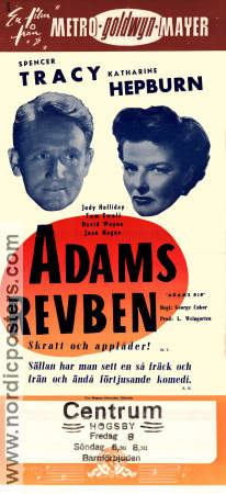 Adams revben 1949 poster Spencer Tracy George Cukor
