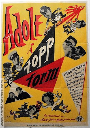 Adolf i toppform 1952 poster Adolf Jahr