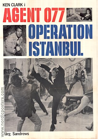 Agent 077 Operation Istanbul 1968 poster Ken Clark