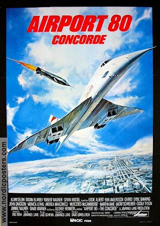Airport 80 Concorde 1979 poster Alain Delon David Lowell Rich