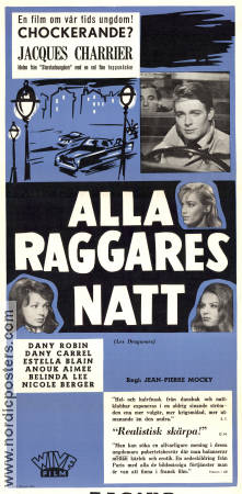 Alla raggares natt 1959 poster Jacques Charrier Jean-Pierre Mocky