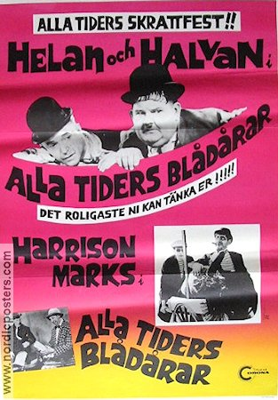 Alla tiders blådårar 1968 poster Laurel and Hardy