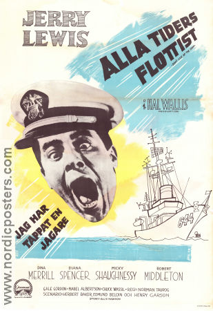 Alla tiders flottist 1959 poster Jerry Lewis