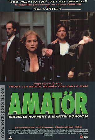 Amatör 1994 poster Isabelle Huppert Hal Hartley