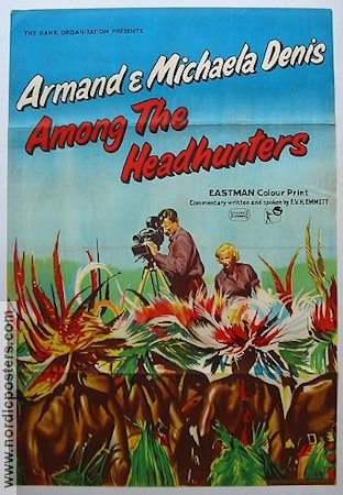 Among the Headhunters 1955 poster Armand Michaela Denis