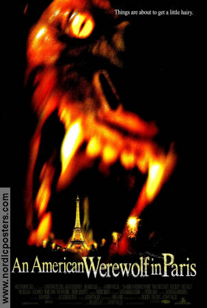 An American Werewolf in Paris 1997 poster Tom Everett Scott Anthony Waller