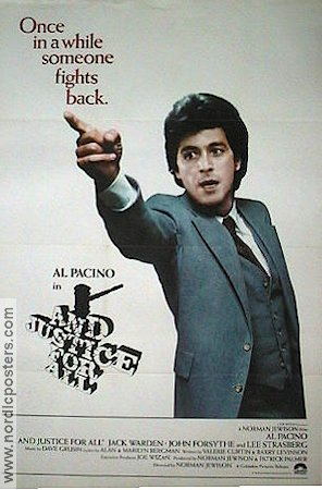 And Justice for All 1979 poster Al Pacino