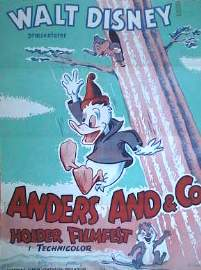 Anders And og Co 1957 poster Disney