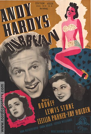 Andy Hardys dubbelliv 1944 poster Mickey Rooney