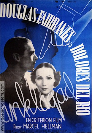 Anklagad 1936 poster Douglas Fairbanks Jr Thornton Freeland