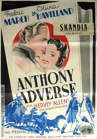 Anthony Adverse 1936 poster Fredric March