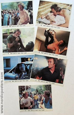 Any Which Way You Can 1980 lobbykort Clint Eastwood