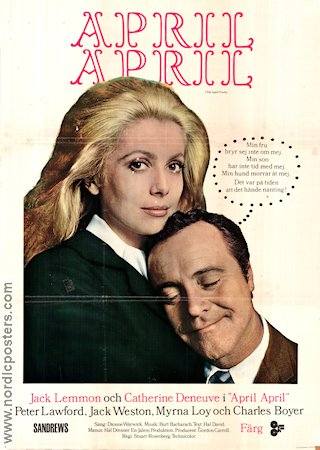 April april 1969 poster Catherine Deneuve