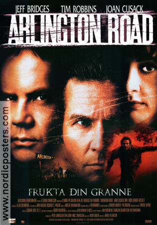Arlington Road 1999 poster Jeff Bridges