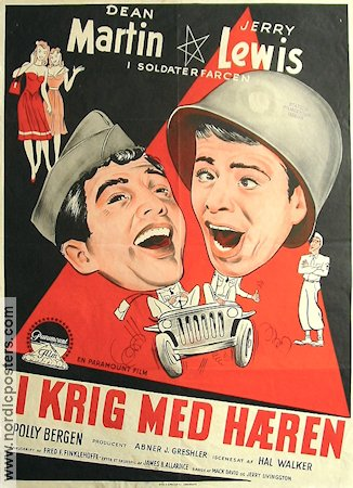 At War with the Army 1952 poster Dean Martin