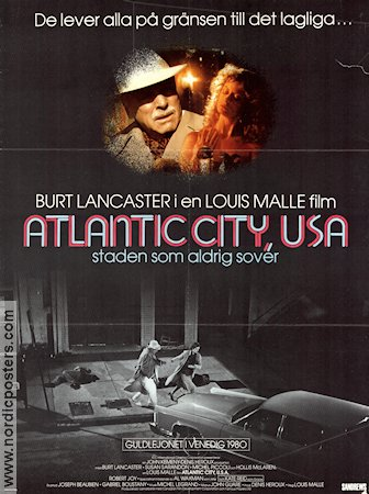 Atlantic City USA 1981 poster Burt Lancaster Louis Malle