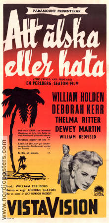 Att älska eller hata 1956 poster William Holden