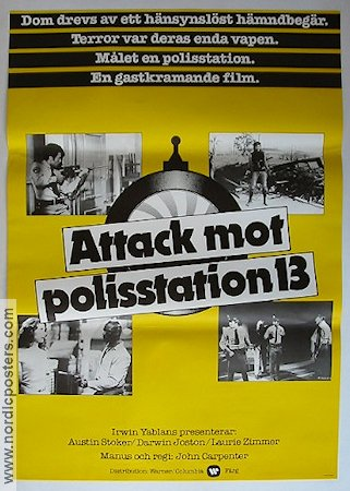 Attack mot polisstation 13 1978 poster Austin Stoker John Carpenter