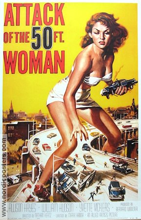 Attack of the 50 Ft Woman 1958 poster Allison Hayes