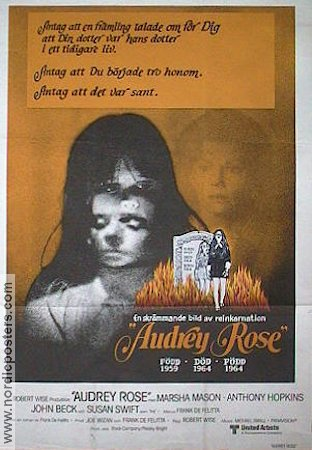 Audrey Rose 1977 poster Anthony Hopkins