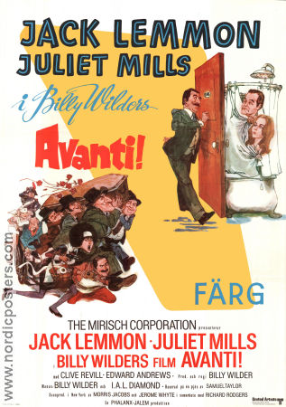 Avanti 1973 poster Jack Lemmon Billy Wilder