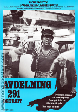 Avdelning 291 Detroit 1978 poster Richard Pryor
