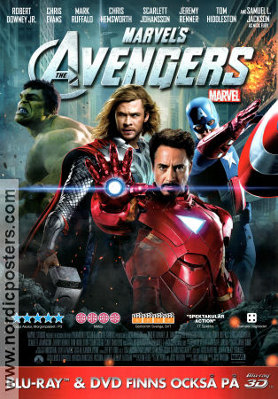 The Avengers DVD 2012 poster Robert Downey Jr Joss Whedon