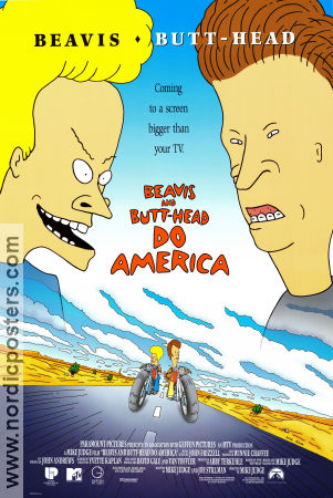 Beavis and Butt-Head do America Poster 68x102cm USA RO original