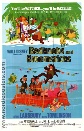 Bedknobs and Broomsticks 1971 poster Angela Lansbury