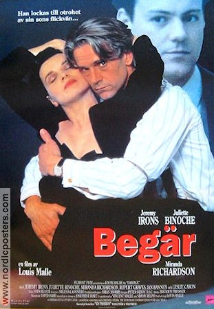 Begär 1992 poster Jeremy Irons Louis Malle