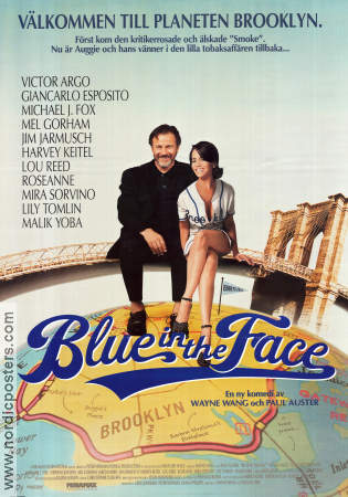 Blue in the Face 1995 poster Harvey Keitel Jim Jarmusch