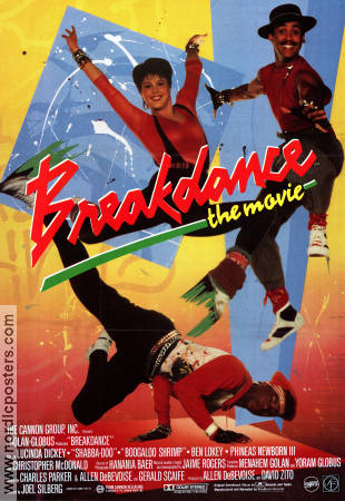 Breakdance the Movie 1984 poster Lucinda Dickey