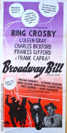 Broadway Bill 1950 poster Bing Crosby Frank Capra